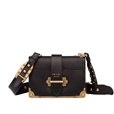 4a8e09bb9dd871 HH-Prada Cahier leather shoulder bag for women: Handbags: Amazon.com