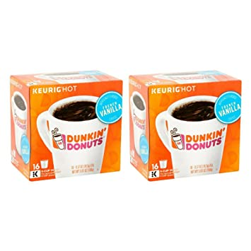 Amazoncom Keurig Hot Dunkin Donuts French Vanilla KCup Pods