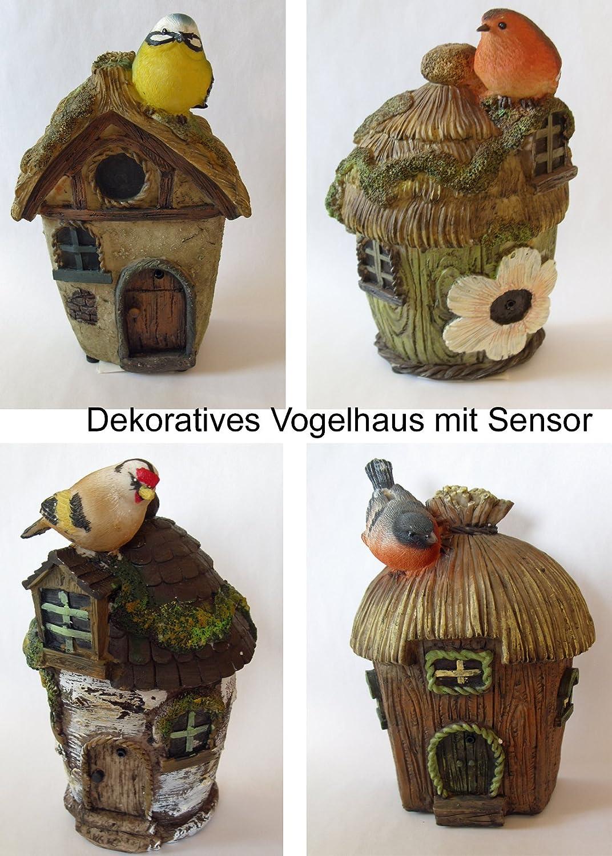 Bewegungsmelder Vögel Nest Vögelchen Licht Geräusch Deko Beleuchtung