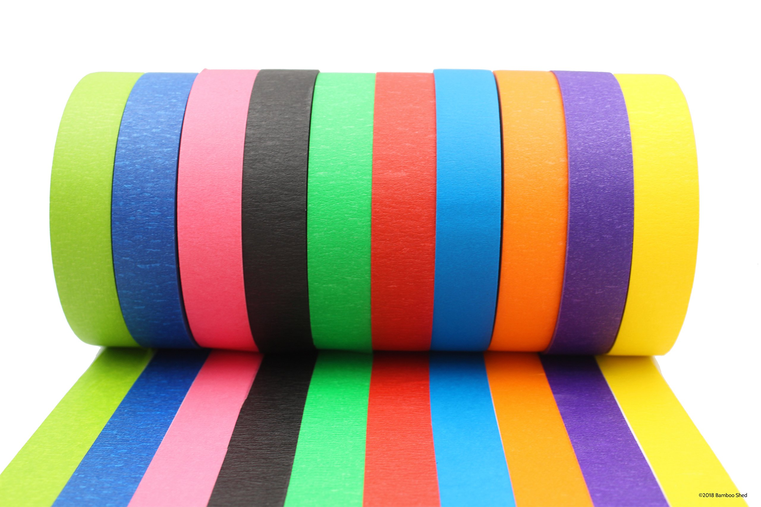 Colored Tape - Decorative Writable Masking Tape - Large Rolls - Classroom Decorations, Art Projects For Kids, Holiday Decorations -  Bright Colors For Color Coding and Colored Labels