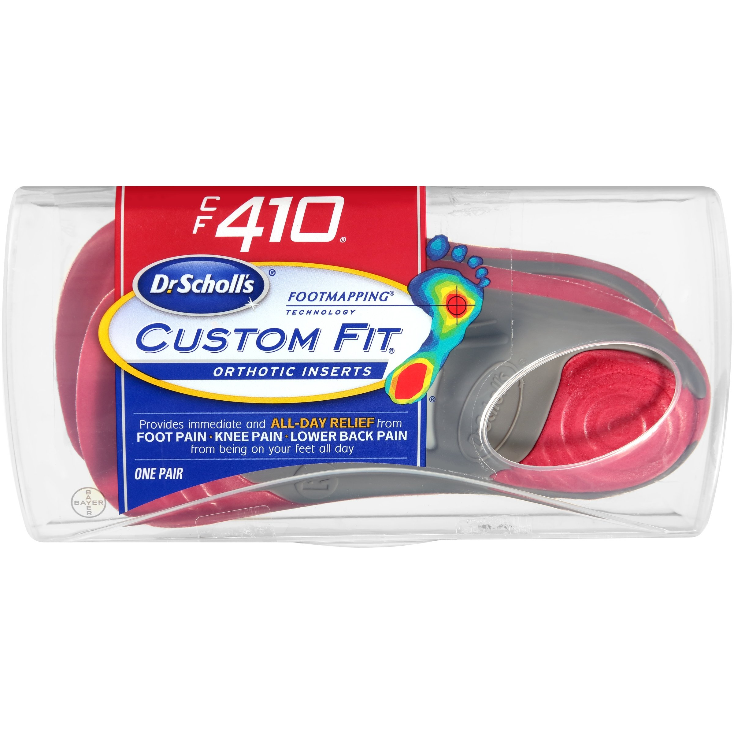 Dr. Scholl's Custom Fit Orthotic Inserts, CF 410