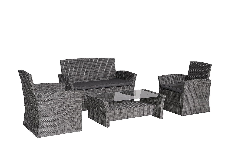 Garden Impressions Lounge Set, 4-teilige Poly-Rattan Gruppe FIJI ...