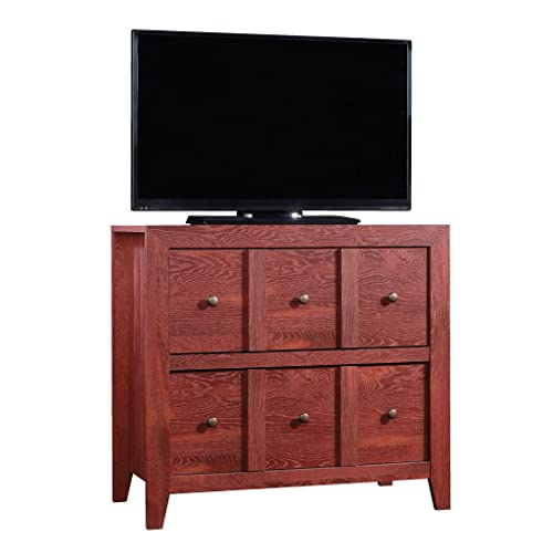 Sauder Dakota Pass Console with File, For TVs up to 42 , Fiery Pine finish