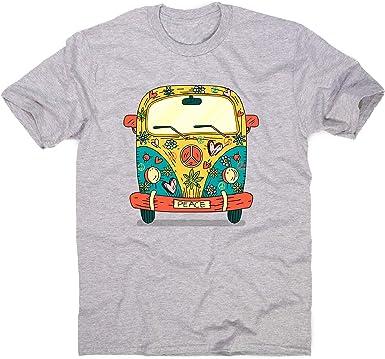 Graphic Gear Hippie Van - Camiseta para Hombre Gris Gris M ...
