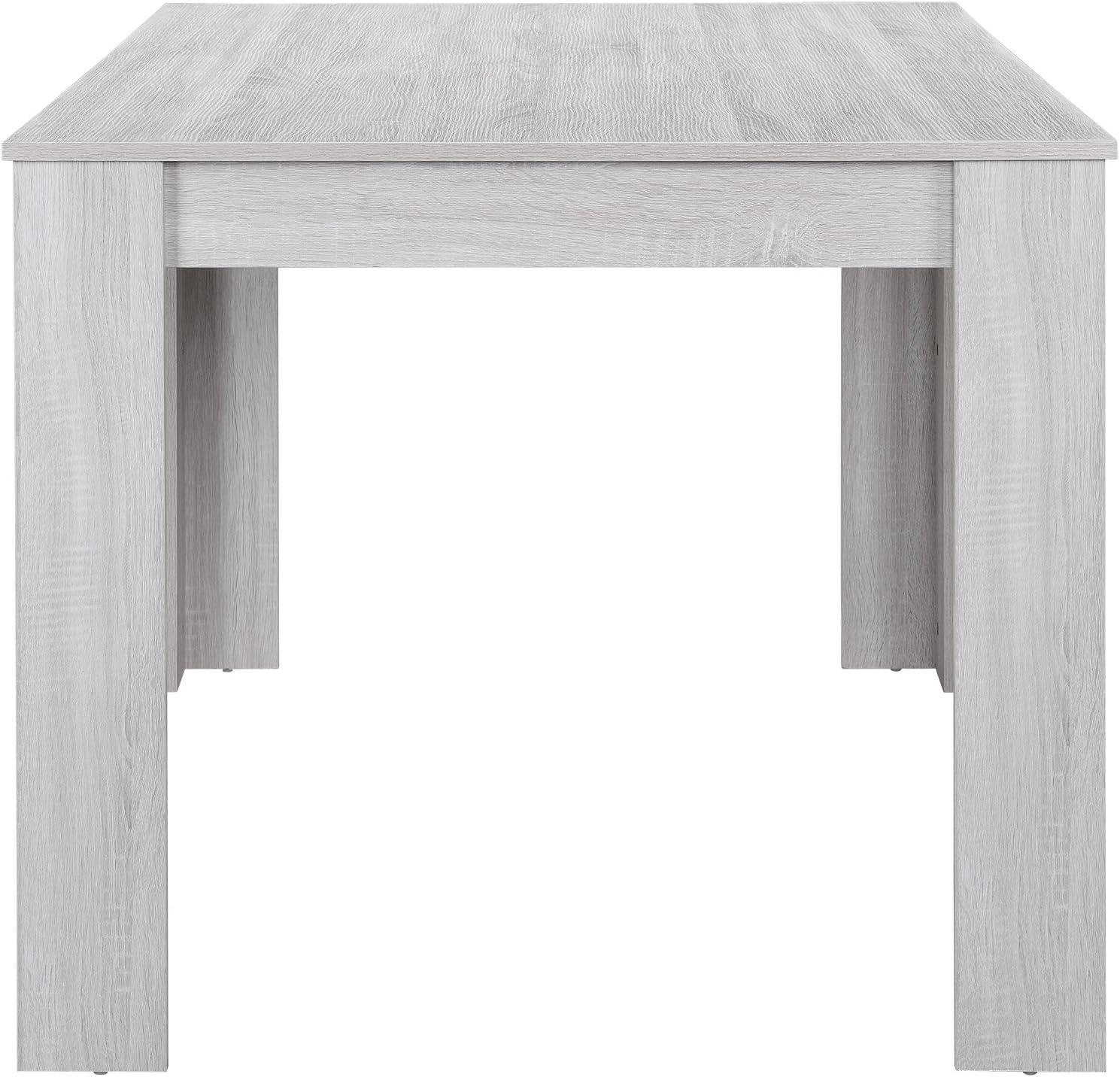 Mesa de Cocina Rectangular /® en.casa Blanca 140x90cm Mesa Elegante de Comedor para 6 sillas