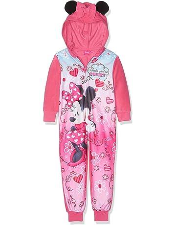 Disney Frozen Fleece All in One Hooded Pyjamas Nightwear Sleepsuit Pink 2-5yrs