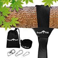 EASY HANG (8FT) TREE SWING STRAP X1 - Holds 2200lbs. - Heavy Duty Carabiner and Spinner - Perfect for Tire and Saucer Swings - 100% Waterproof - Easy Picture Instructions - Carry Bag Included!