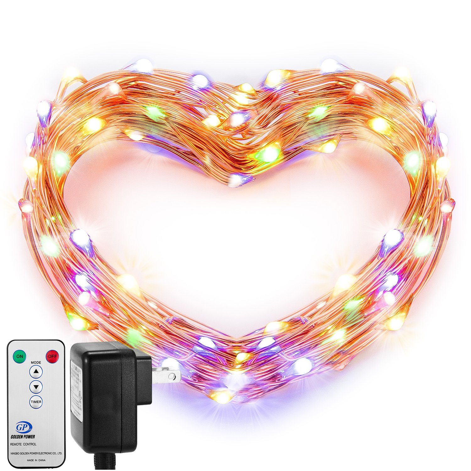 Lighting Strings Bright Love Heart Shape Wire Decorative Indoor Decoration Iron Art Vintage Fairy Lamps Holiday Home Light String Ornaments Durable And To Have A Long Life. Lights & Lighting