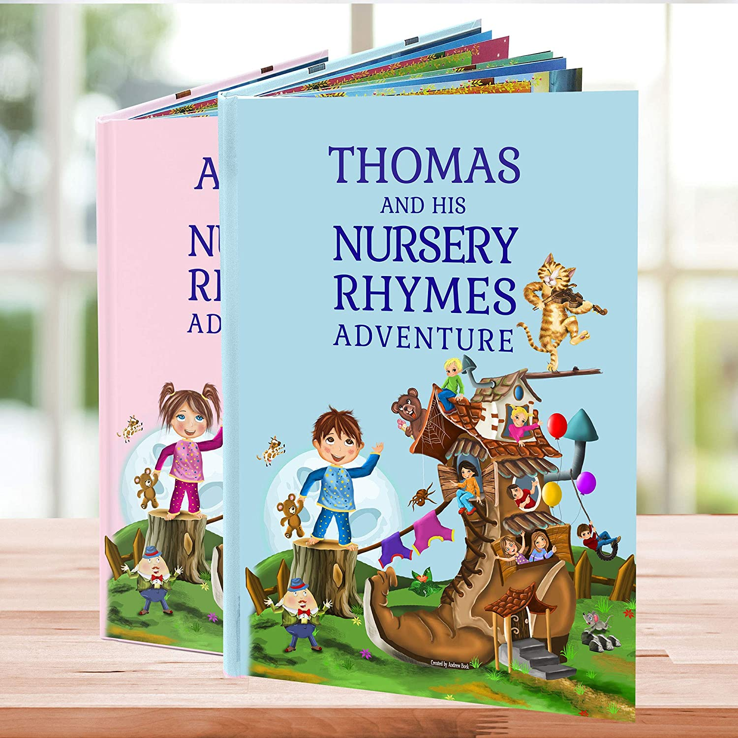 Personalized Bedtime Story Book | Nursery Rhymes and Poems Customized with the Child's Name | Newborn Baby Shower Keepsake Gift