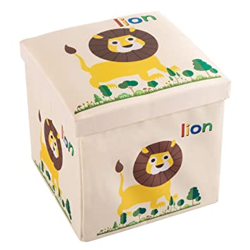Surprising Amazon Com Deluxe Collapsible Cushion Top Ottoman Toy Box Pdpeps Interior Chair Design Pdpepsorg