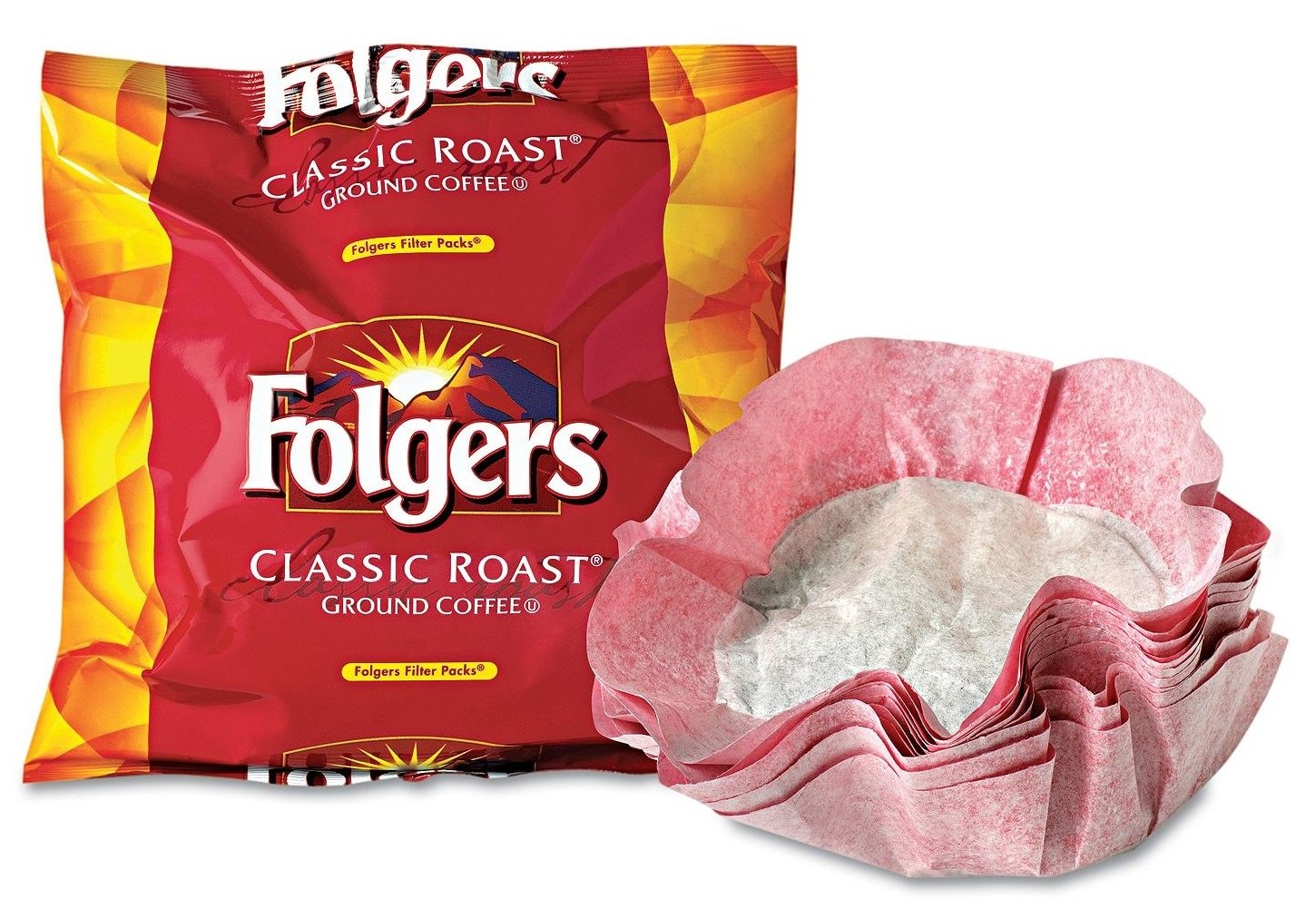 Folgers Classic Roast Ground Coffee, Filter Packs, (0.9 oz., 40 ct.) (pack of 6)