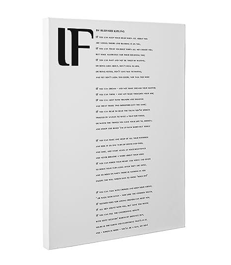 if poem canvas wall art print by rudyard kipling design by
