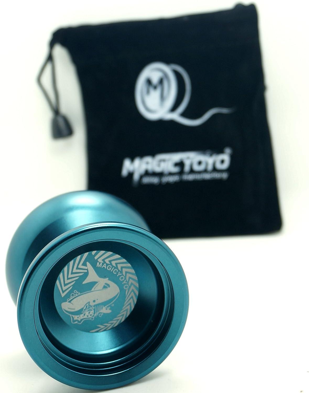 Vktech YOYO Magic Yo-yo N12 Shark Honor String Trick Deep Blue Aluminum