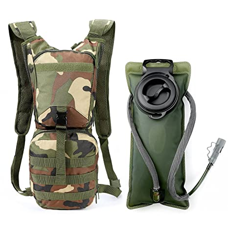 Campcookingsupplies 2.5l Water Bag Bladder Hydration Backpack Outdoor Camping Molle Military Tactical Knapsack Cycling Hiking Climbing