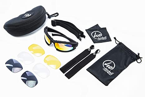 d0deaaf246f Amazon.com   HACKETT EQUIPMENT Shooting Glasses with 4 Anti Fog ...