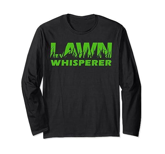 Unisex LAWN Whisperer Landscaping Yard Work Long Sleeve T-shirt Small Black - Amazon.com: LAWN Whisperer Landscaping Yard Work Long Sleeve T-shirt