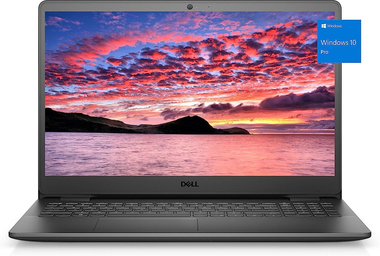 2021 Newest Dell Inspiron 3000 Business Laptop, 15.6 HD LED-Backlit Display, Intel Celeron Processor N4020, 8GB DDR4 RAM, 128GB PCIe SSD, Online Meeting Ready, Webcam, WiFi, HDMI, Win10 Pro, Black
