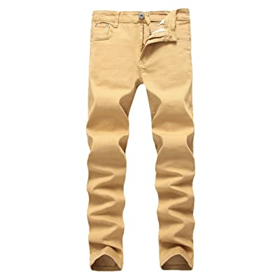 DORAABLE Boy's Skinny Fit Stretch Jeans Kids Fashion Pants Khaki W10