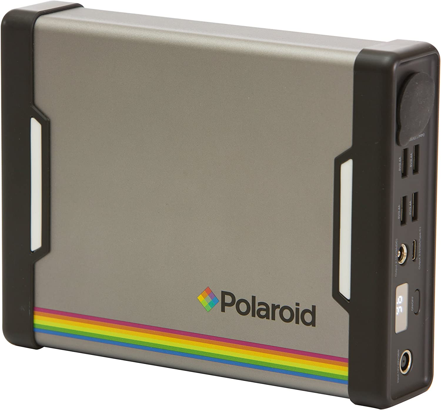 Silver//Grey Polaroid PS100 84 Wh Portable Power Supply//Mains Battery//Power Bank High Capacity Energy Storage System With UK Plug