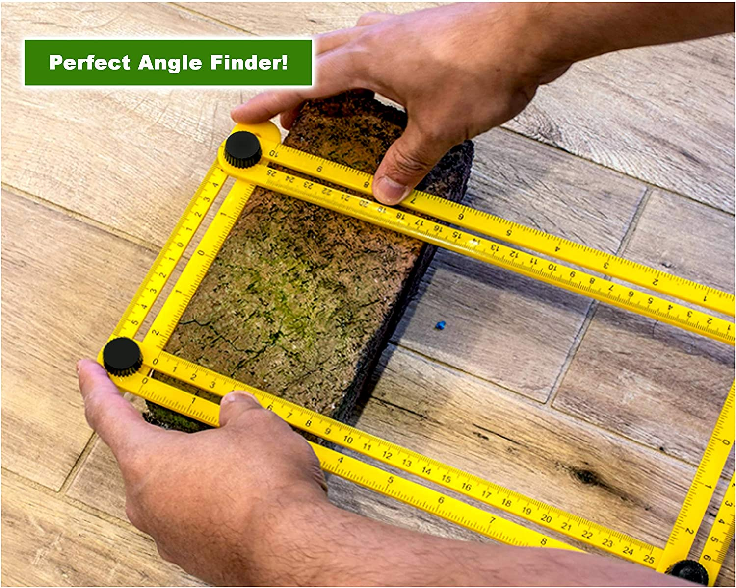 Universal Adjustable Multi Functional Angle Finder Measuring Ruler Yellow valtterisperfectproducts 1 DIY Projects//Home Improvement//Tiling//Carpentry//Brickwork//Flooring Plastic Angleizer Template Tool by Zebbo
