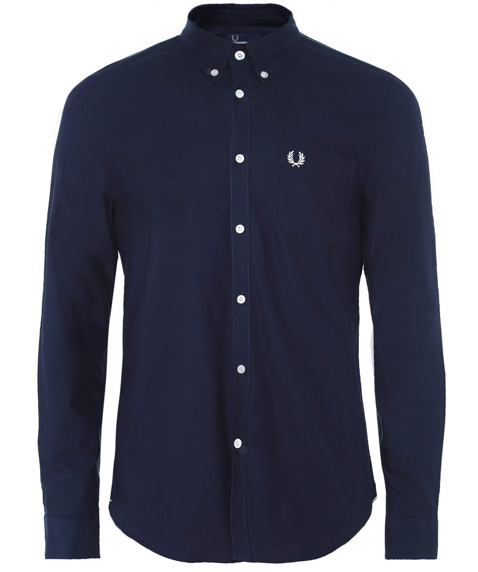 Fred Perry Men's Classic Oxford Shirt, Navy, Medium