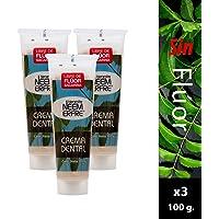 Paquete de 3- Crema Dental Artesanal de Corteza de Neem/Pasta dental sin fluor/Crema dental sin fluor