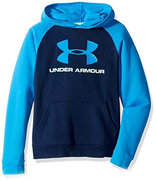 b01375911 Amazon.com: Under Armour Boys Rival Logo Hoodie: Clothing