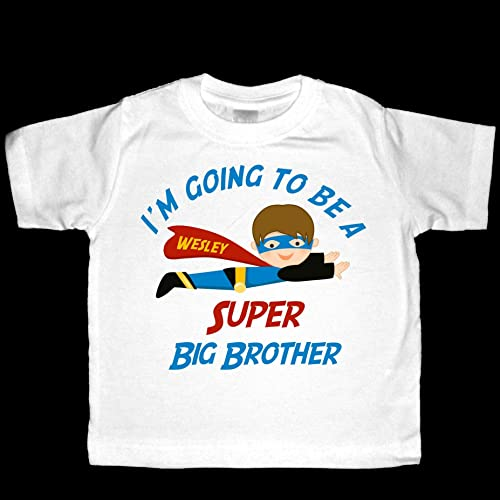 e40aebc2 Amazon.com: Personalized I'm going to be a Super Big Brother ...
