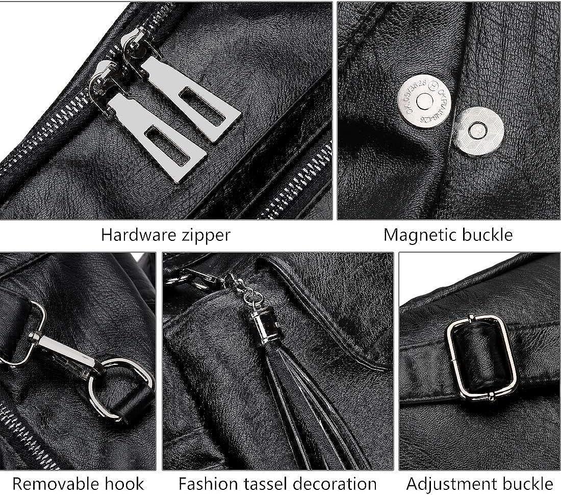 Mynos Women Backpack Purse Leather Handbag Bag Ladies Rucksack Travel Tote Shoulder Bag