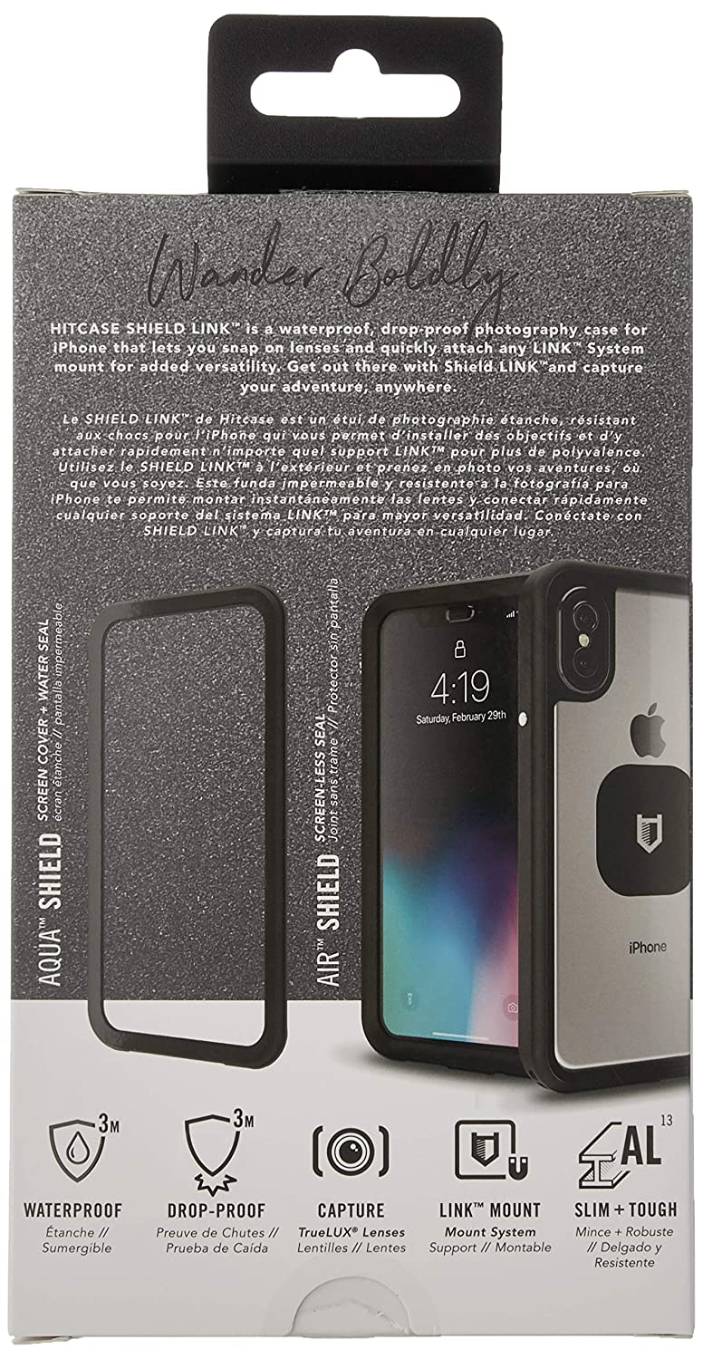 watch cd43f 99e85 HITCASE SHIELD LINK iPhone X Case -Thinnest Waterproof Protective Aluminum  Case/Durable Mountable Snowproof Underwater Cover Magnetic Lens Fully ...