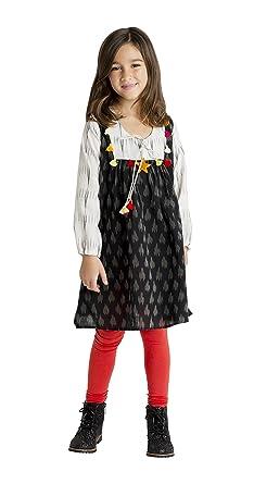 59953632b Amazon.com  Masala Kids Girls  Hand Made Ikat Tunic Dress  Clothing