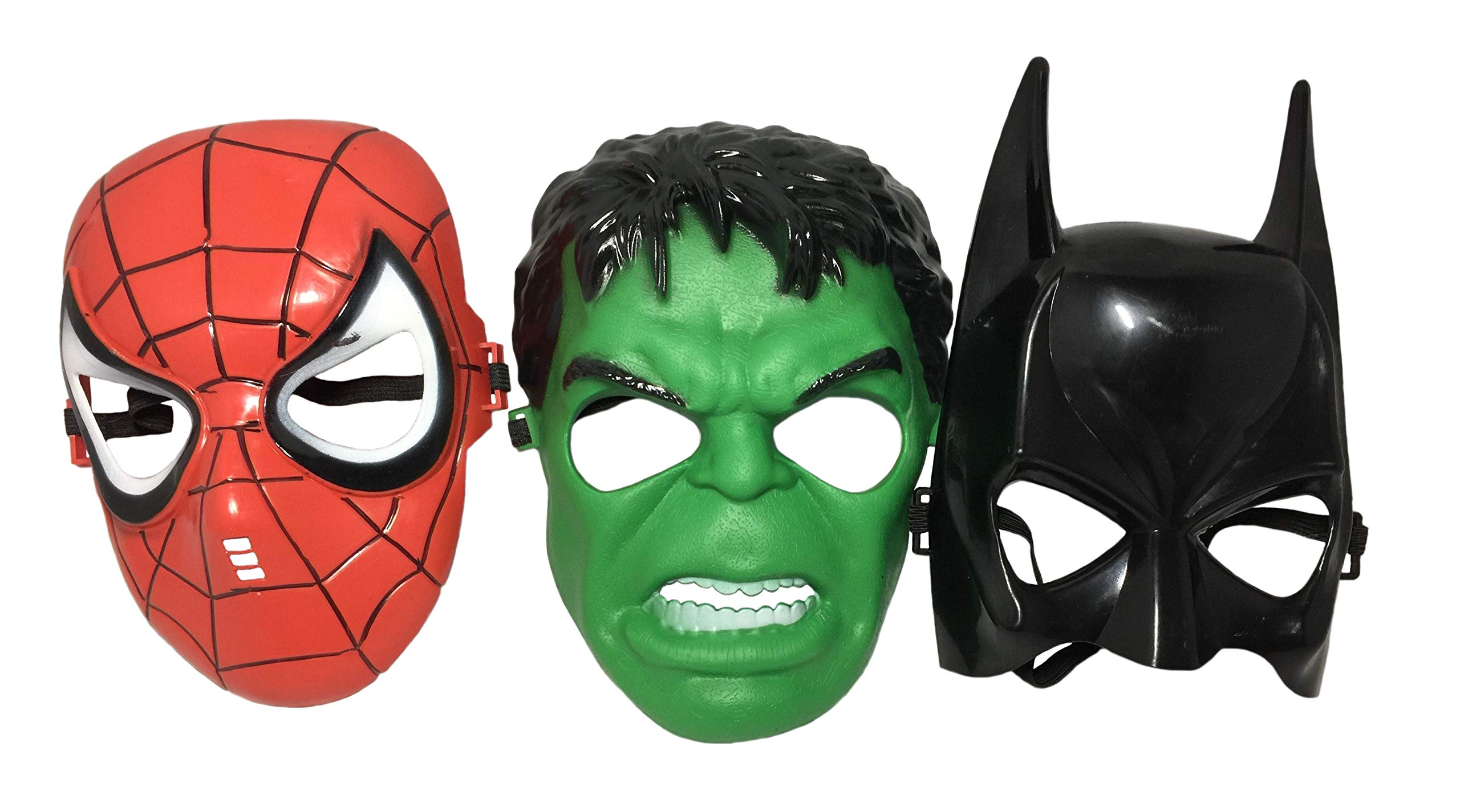 Seasons Merchandise Set of 3 Kids Masks - Spider-Man, Batman, Hulk