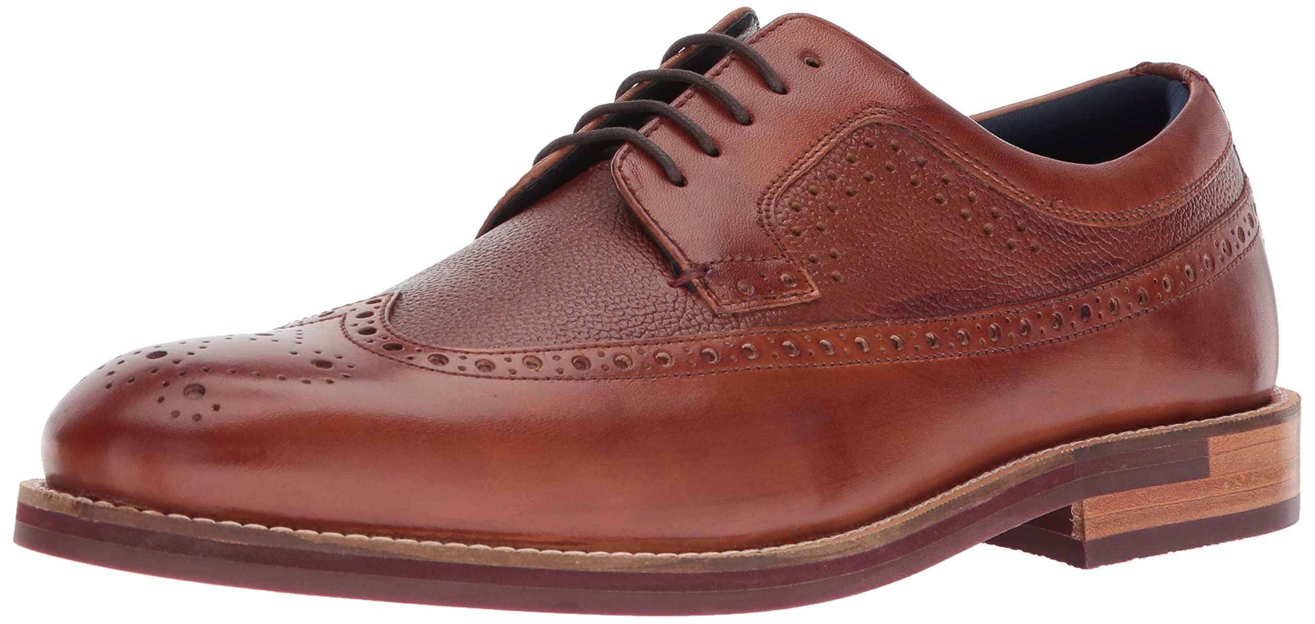 Ted Baker Men's Deelani Oxford, Tan Leather, 8 D(M) US