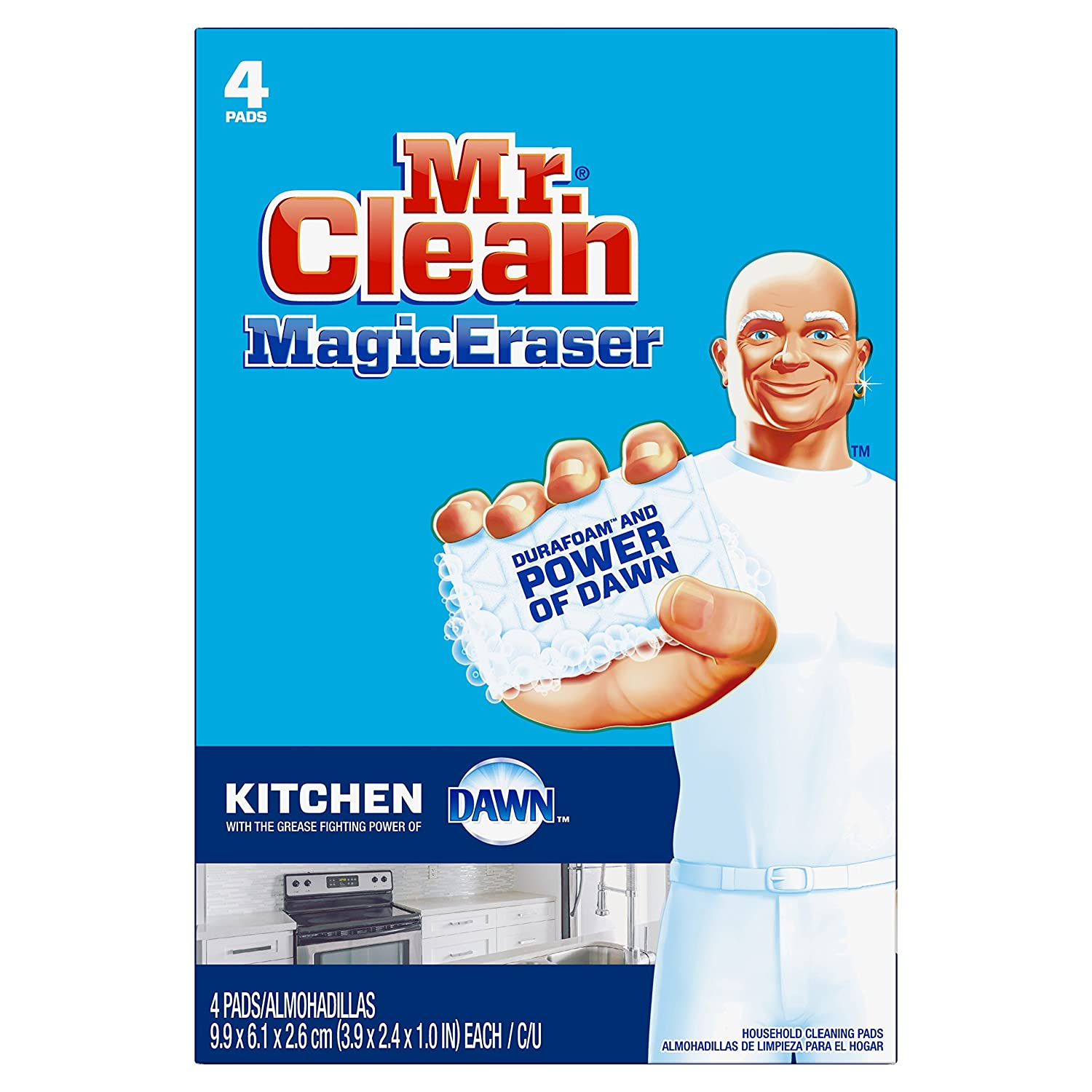 Amazon.com: Mr. Clean Magic Eraser Kitchen, Cleaning Pads with ...