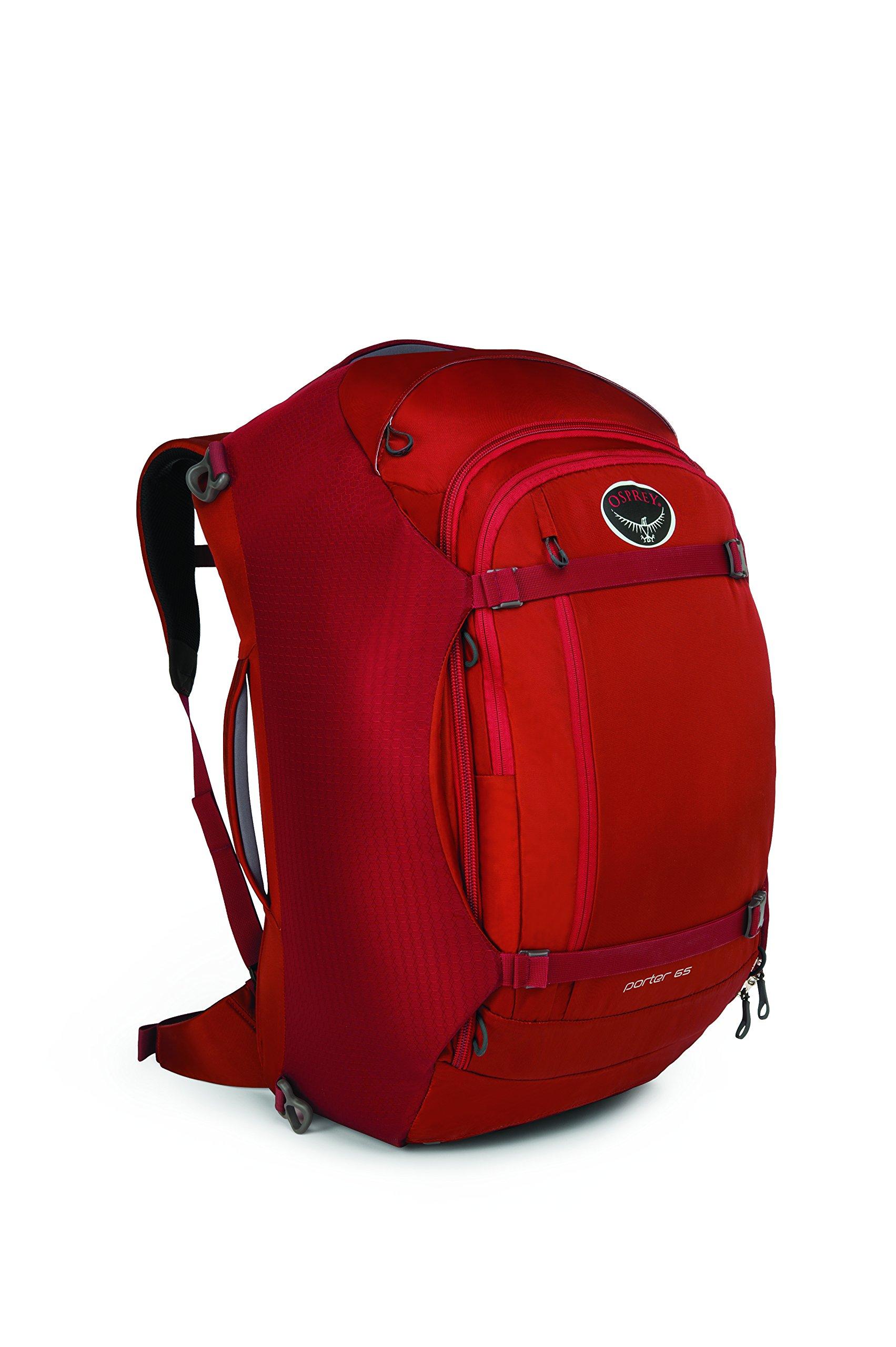 Osprey Porter Travel Duffel Bag, Hoodoo Red, 65-Liter by Osprey