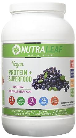 NUTRALEAF NUTRITION Vegan Protein Blueberry, 0.02 Pound