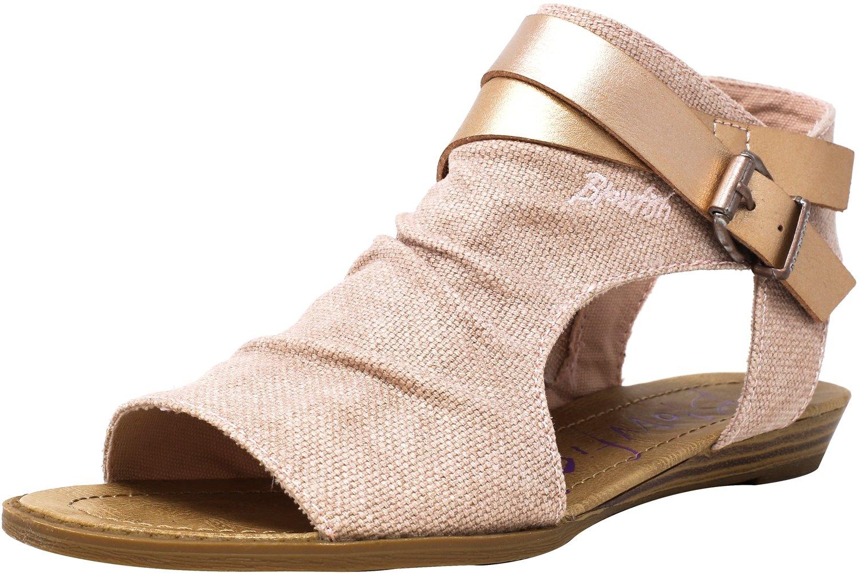 Blowfish Women's Balla Wedge Sandal (10 B(M) US, Rose Gold Rancher/Rose Gold Pisa Pu)