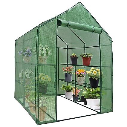 Terrific Bbbuy 4 Tier Mini Greenhouse 8 Shelves Garden Plant Flower House Grow Tent Indoor Outdoor Green House Interior Design Ideas Philsoteloinfo