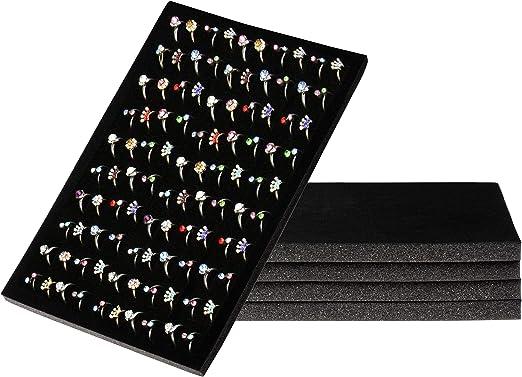 Black /& Blue Foam Ring Pad Jewelry Showcase Display Tray Case Insert Kit 2 Pcs