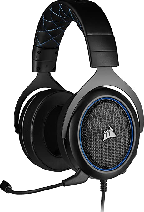 Corsair HS50 PRO Stereo Gaming Headset (Adjustable Memory Foam Ear Cups, Lightweight, Noise Cancelling Detachable Microphone with PC, PS4, Xbox One,
