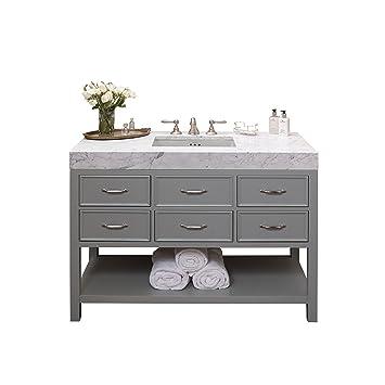 Merveilleux RONBOW Newcastle 48 Inch Bathroom Vanity Set In Ocean Gray, Bathroom Vanity  With Top In