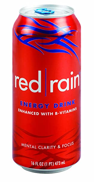 Amazon.com : Red Rain Energy Drink, Regular, 16-Ounce Cans (Pack of ...