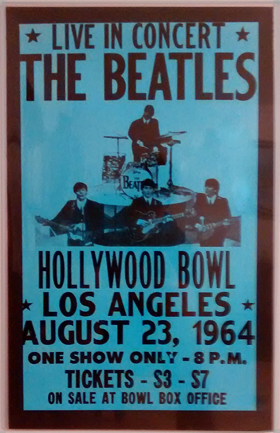 Amazoncom The Beatles At The Hollywood Bowl Poster Matted In - Los angeles posters vintage