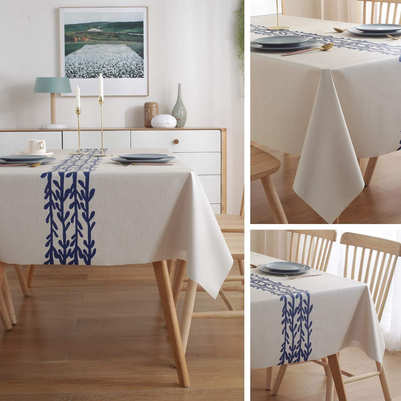 140cm*220cm ZWOOS Wachstuch-Tischdecke Abwaschbar Garten-Tischdecke Wachstischdecke Tischdecke Eckig Wachstuchtischdecke Wachstuch Zimmer Tischdekoration