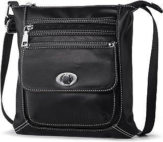 Piccola Borsa a Tracolla Donna Borse a Spalla Moda Borsetta in Pelle Crossbody Messenger Bag Leggero con Muliti Tasche per Viaggio Shopping Casual Work Katloo KG-361