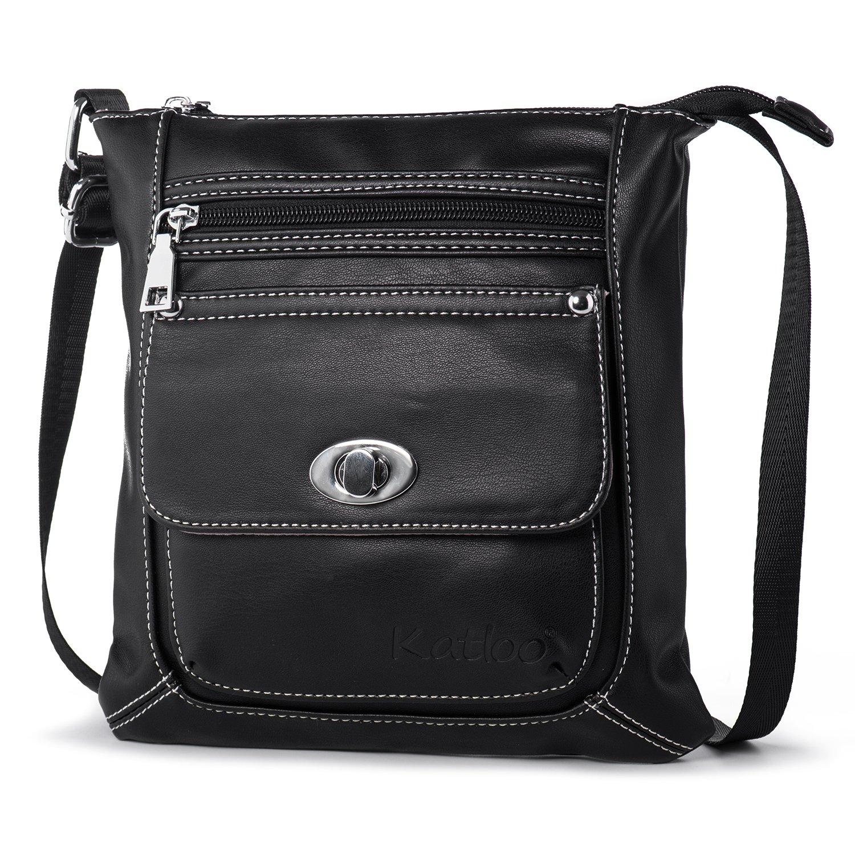 7535fc984b Women Crossbody Purse Small Vegan Leather Shoulder Bag Cross Body Bags Soft  Casual Travel Purses Katloo (Black): Handbags: Amazon.com