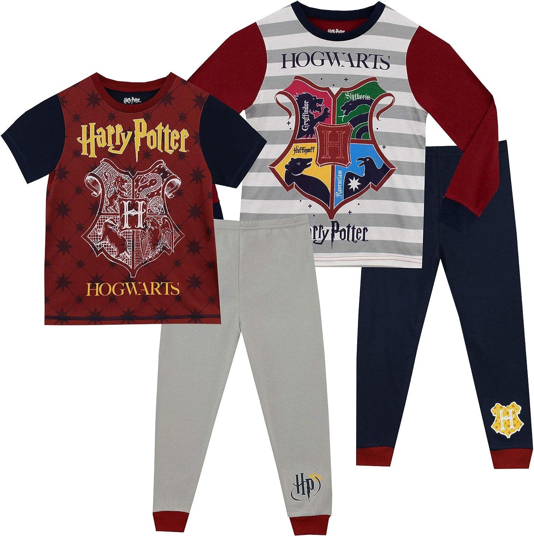 HARRY POTTER Pijamas para Niños 2 Paquetes Hogwarts