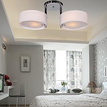 Elegant ALFRED® Acryl Kronleuchter Mit 2 Leuchten (verchromt), Mini Style Putz  Deckenleuchte