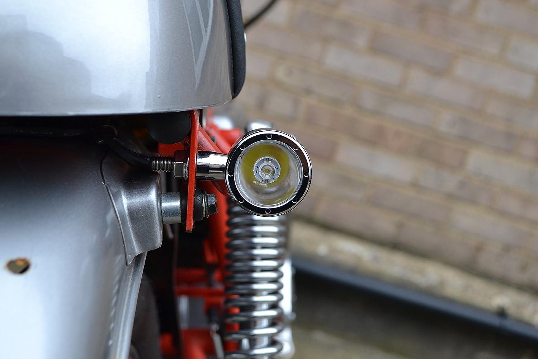 Cromo CNC Alluminio Billet Integrato LED Moto Stop Fari Posteriori e Frecce