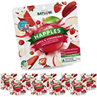 Batlow Happles Crispy Apple Slices - Freeze Dried & Coated in Strawberry Powder – Gluten Free, Lactose Free & Low Fat…